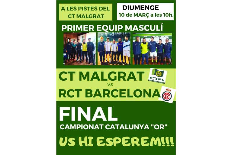 "THE FIRST TEAM OF CT MALGRAT AT THE END OF CATALUNYA ""OR"""