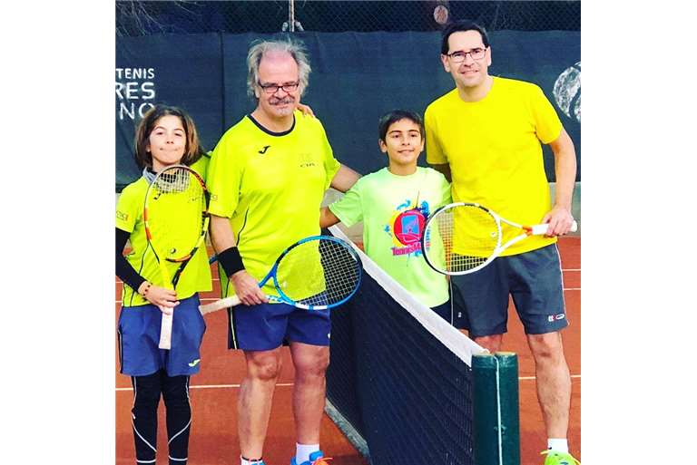 GREAT ACTION BY OURS AT THE COUPLE / FATHERATION PARTY / FEDERATION TENNIS GIMENO